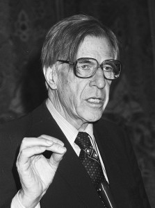 """John Kenneth Galbraith 1982"" by Dijk, Hans van / Anefo - [1] Dutch National Archives, The Hague, Fotocollectie Algemeen Nederlands Persbureau (ANeFo), 1945-1989, Nummer toegang 2.24.01.05 Bestanddeelnummer 931-9937. Licensed under CC BY-SA 3.0 nl via Wikimedia Commons - http://commons.wikimedia.org/wiki/File:John_Kenneth_Galbraith_1982.jpg#mediaviewer/File:John_Kenneth_Galbraith_1982.jpg"